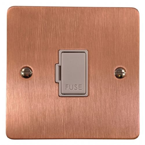 G&H FRG90W Flat Plate Rose Gold 1 Gang Fused Spur 13A Unswitched